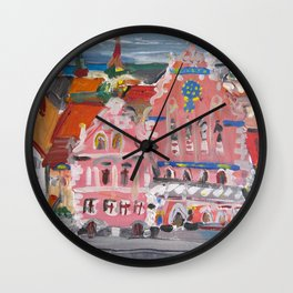 Houses of the Blackheads I Wall Clock
