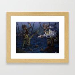 Zombie attack Framed Art Print