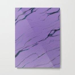 Ultra Violet purple marble texture Metal Print