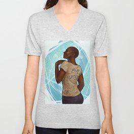 """""""Douchebag t-shirt"""" Vivienne Unisex V-Neck"""