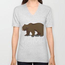 Mama Brown Bear Gift Mother Mum Mummy Mommy Unisex V-Neck