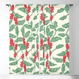 Coffee Plant Pattern Blackout Curtain