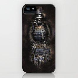 Japanese armor artwork, samurai armor pencil and digital iPhone Case