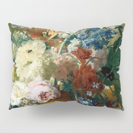 """Jan van-Huysum """"Flowers in a Vase with Crown Imperial and Apple Blossom"""" Pillow Sham"""