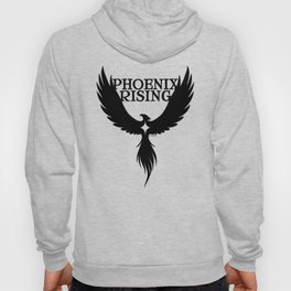 PHOENIX RISING black with star center Hoody