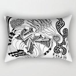 Pipes Abstract Rectangular Pillow