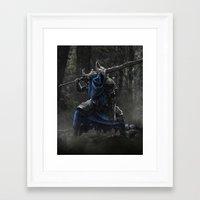 dark souls Framed Art Prints featuring Artorias (Dark Souls fanart) by Artur Jag