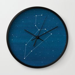 Leo zodiac constellation Wall Clock