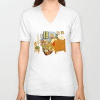 van gogh V-neck T-shirts featuring Van gogh by bobilerorg
