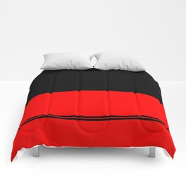 Black and red design Comforters