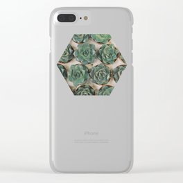 Succulent Collection Clear iPhone Case