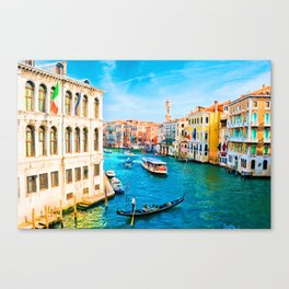 Italy. Venice lazy day Canvas Print