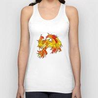 phoenix Tank Tops featuring Phoenix by Rishi Parikh