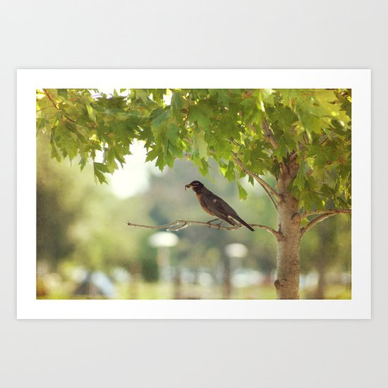 The early bird gets the worm Art Print
