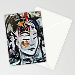 El Cambio - Abstract portraits - Original Painting - MARINA TALIERA Stationery Cards