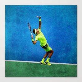 Del Potro Tennis Serve Canvas Print