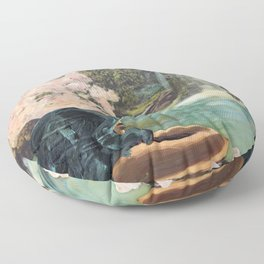The Faun and the Mermaid Floor Pillow
