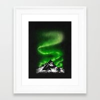 aurora Framed Art Prints featuring aurora by barmalisiRTB