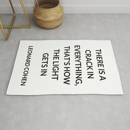 There Is a Crack in Everything, That's How the Light Gets In: Leonard Cohen Rug