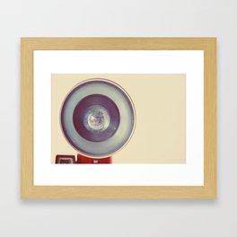 Blue Flash Framed Art Print
