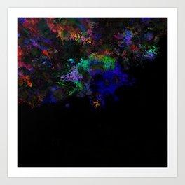 Dark Splats Art Print