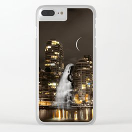 Skyline Falls Mindscape Clear iPhone Case