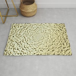 Pattern of brushed gold cylinders Rug