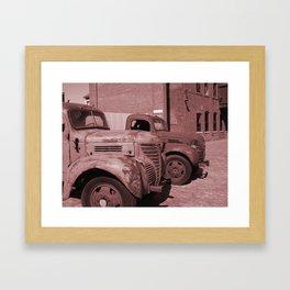 Vintage Cars Framed Art Print