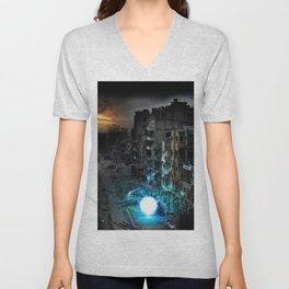 Dystopian Orbs Unisex V-Neck