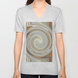 Distorted stripes in colour 3 Unisex V-Neck