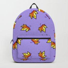 Stylish vintage interior design and textile design botanical pattern on violet Backpack