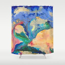 Watercolor Series (Exploding Flower) Shower Curtain