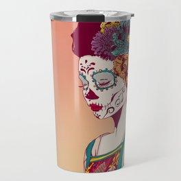 Mexican Skull Lady Travel Mug