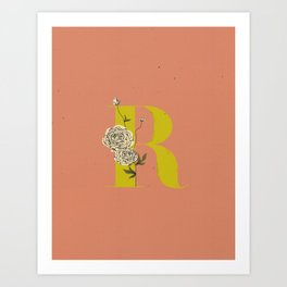 R for Ranunculus Art Print
