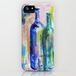 Fragile Glass Colorful Bottles iPhone Case