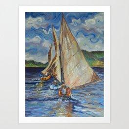 The Regatta Art Print