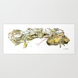 It's good to be shellfish Art Print