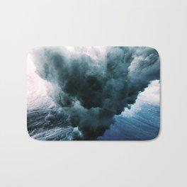 Crushing waves Bath Mat