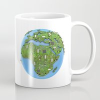 data Mugs featuring Data Earth by GrandeDuc