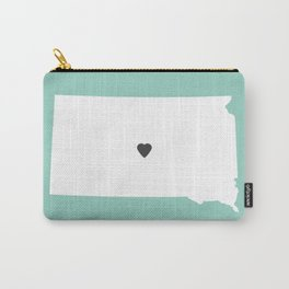 South Dakota Love in Mint Carry-All Pouch