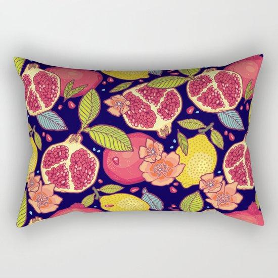 Mysterious tropical garden. Rectangular Pillow
