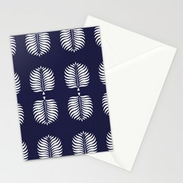 TROPICAL PALMS . BLUE Stationery Cards