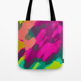 pink green and blue painting abstract background Tote Bag