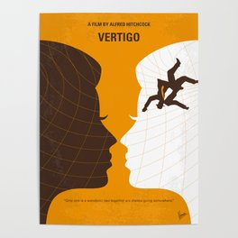 No510 My Vertigo minimal movie poster Poster
