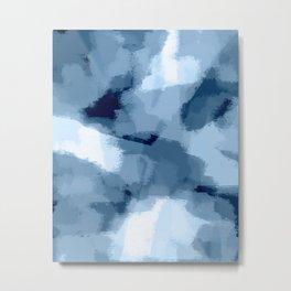 Amaya - navy blue abstract art Metal Print