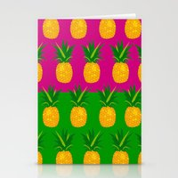 pineapples Stationery Cards featuring Pineapples by The Wallpaper Files