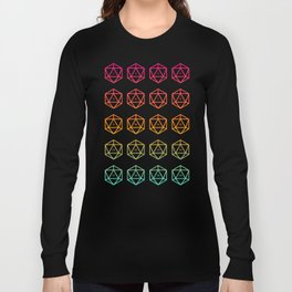 DnD D20 Dice for Dungeon Master DM Dungeons and Dragons Inspired Tabletop RPG Gaming Long Sleeve T-shirt