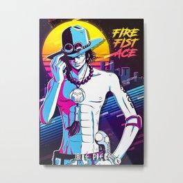 Fire Fist Ace Metal Print