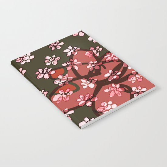 Seamless Pattern / Pink Flowers Notebook