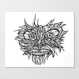 Face Flow Line Canvas Print
